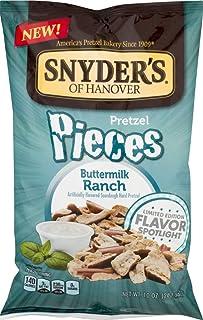 Snyders of Hanover Flavored Pretzel Pieces- 10 oz. Bags (Buttermilk Ranch, 4 Bags)