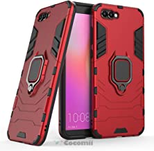 Cocomii Black Panther Armor Huawei Honor View 10/Honor V10 Case New [Heavy Duty] Tactical Metal Ring Grip Kickstand Shockproof [Works with Magnetic Car Mount] Cover for Huawei Honor View 10 (B.Red)