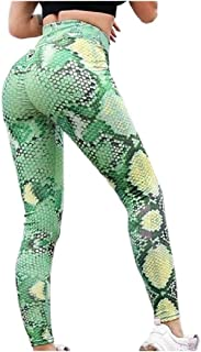Mfacisa Womens Printed Hip up Bodycon Transpirable Silm Fit Salon Pantalones de Yoga
