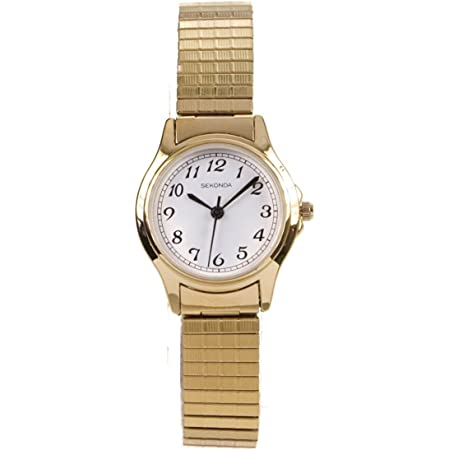 SEKONDA Womens Analogue Classic Quartz Watch with Stainless Steel Strap 4134B.27