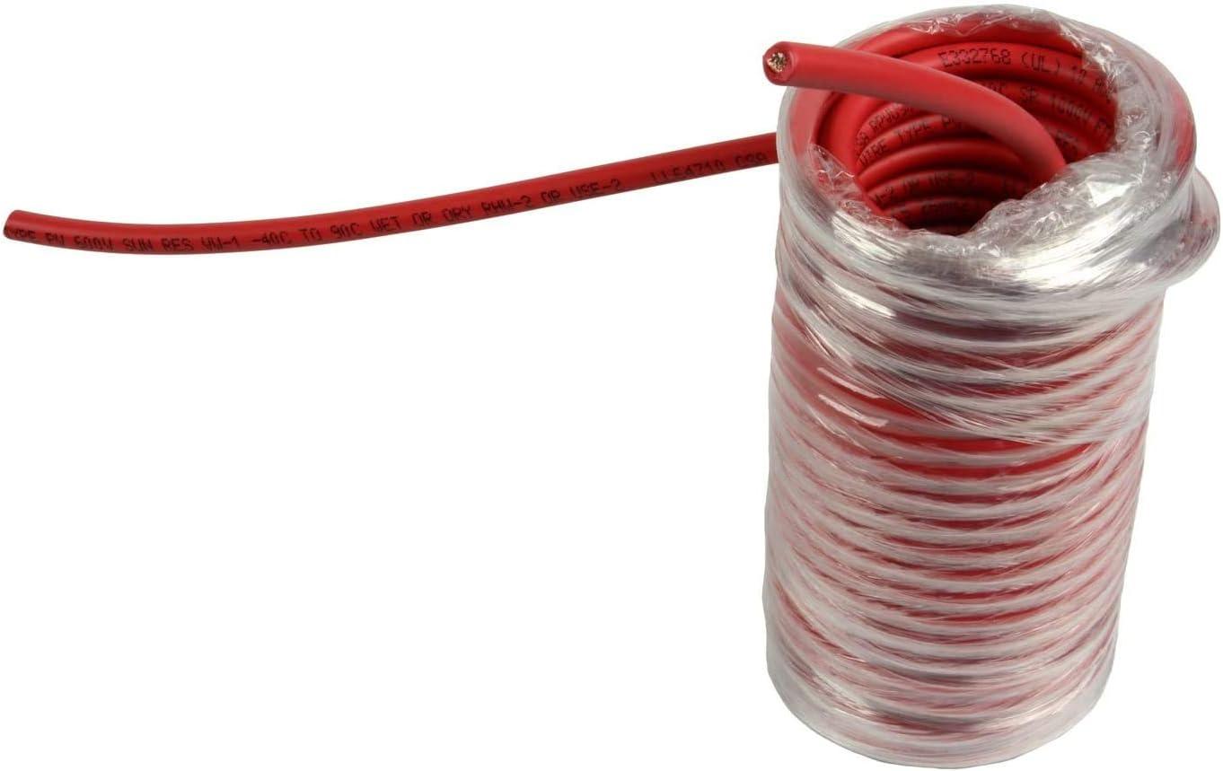 TEMCo 10 [Alternative dealer] AWG Gauge Choice Solar Cable - Made Feet 30 The in Red USA Var