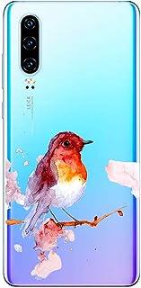 Suhctup Compatible con Huawei P Smart Z/Y9 Prime 2019 Funda de TPU Silicona con Dibujos Lindo Animados Diseño Cárcasa Slim Transparente Suave Flexible Antigolpes Proteccion Bumper Caso,Pájaro 2