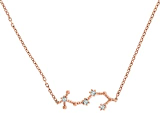 PAVOI 14K Gold Plated Astrology Constellation Horoscope Zodiac Necklace 16-18