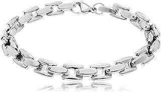 MATERIA K/önigskette plata se/ñores pulsera diamantiert rhodiniert 5,4 mm 31,5g de 21 cm 23 cm incluida Box #SA-10