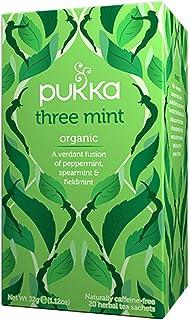 Pukka Organic Three Mint Herbal Tea, 20 Herbal Tea Sachets, 32g