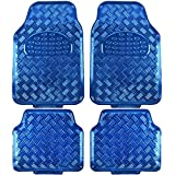 BDK MT-641-BL Universal Fit 4-Piece Set Metallic Design Car Floor Mat...