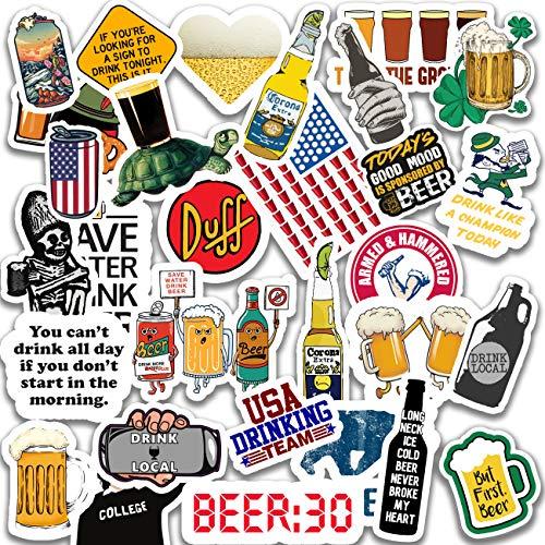 large beer stickers decals - 2