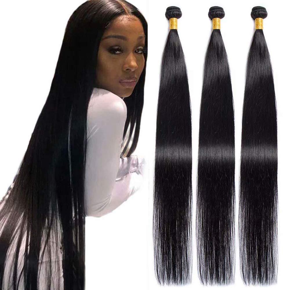 67% OFF of fixed price Maxine Hair 10A Brazilian El Paso Mall Virgin Bundles Un Straight 100% 3