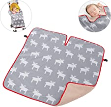 WINGOFFLY Baby Stroller Pram Carrier Windproof Warm Blanket Baby Car Seat Cover with Clip (Gray)