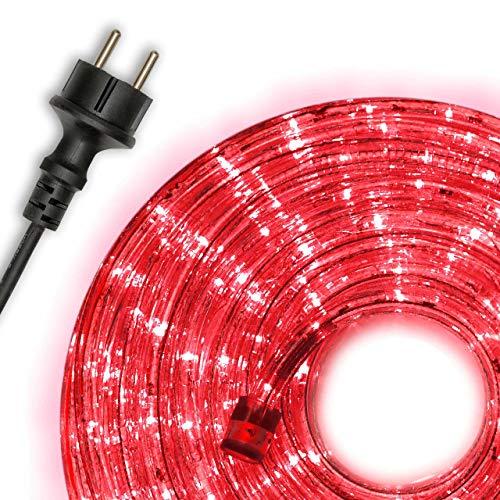 Nipach GmbH 10m LED Lichterschlauch Lichtschlauch Lichterkette Energiespar Xmas (Rot)