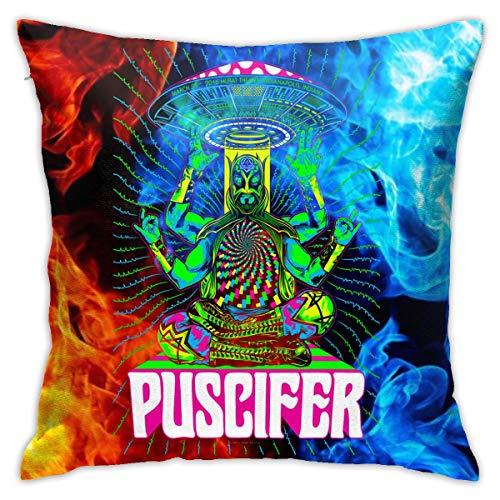 Lucyhu Puscifer- Logo kissenhülle Kopfkissenbezug Bettkissenbezug Pillowcase für Herren & Damen & Jugend Jungen Mädchen