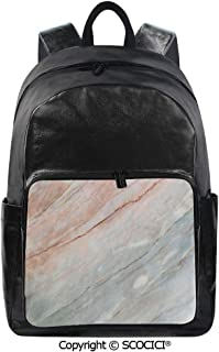 SCOCICI Backpack Lightweight School Bag Onyx Stone Textured Natural Featured Au