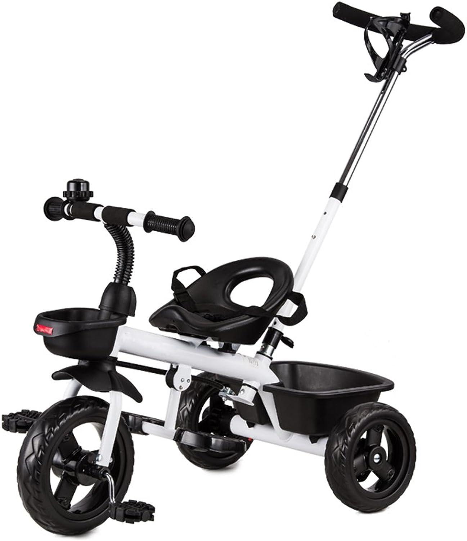 HAIZHEN Kinderwagen Kinder Dreirad Fahrrad 1-3 Jahre alt Baby Bike Kinderwagen 2-4-6 Jahre alt Für Neugeborene (Farbe   Wei-1)