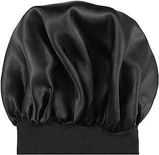 Milisten Bonnet de nuit en satin élastique à large bande Noir