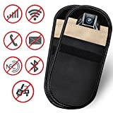 Faraday Bolsa Llave Bag 2pcs Estuche Bloqueador de Se/ñal de Llave para Coche 1pcs Bolsa de Bloqueo de Se/ñal Saludable Tel/éfono Celular WiFi//gsm//LTE//NFC//RF Blocke