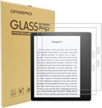 (2 Pack) Orzero for All New Oasis E-Reader 10th Gen 2019 Release, Oasis 7 inch 2017 Release Tempered Glass Screen Protector, 9 Hardness HD Anti-Scratch Bubble-Free (Lifetime Replacement Warranty)