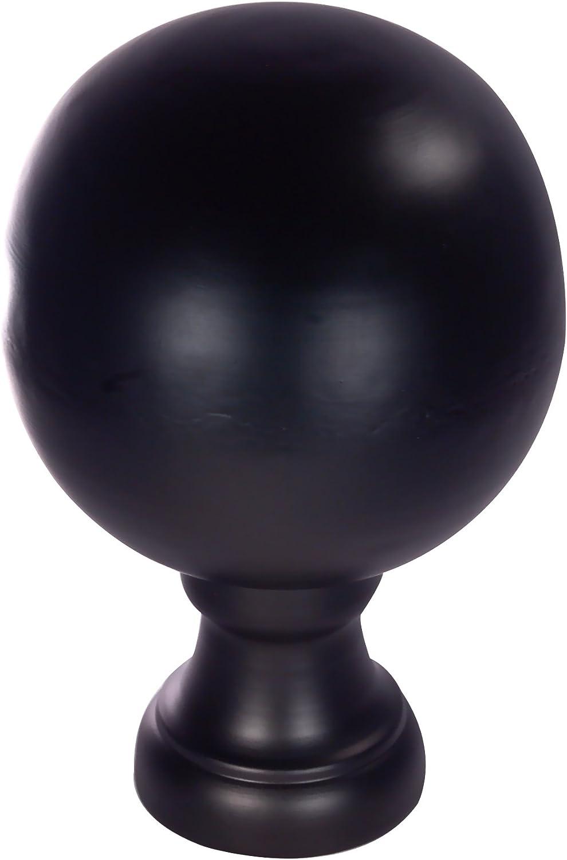 Dalvento Large Londoner Matte Max 59% OFF Finial- Black Max 75% OFF