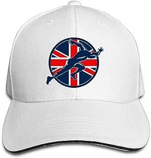 Men&Women Casual Hip-Hop Sun Baseball Caps Sandwich Runner British Flag Circle Fishing Hats