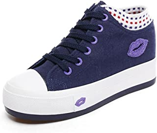 lcky Within The Increase Women's Canvas Shoes Students Platform Shoes Sneakers