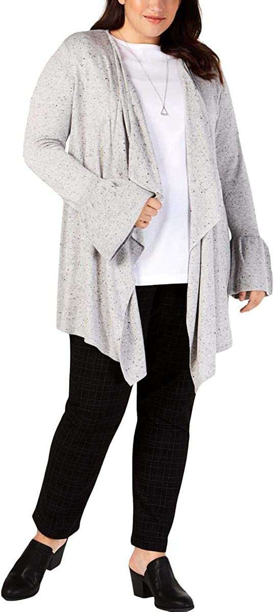 Style & Co. Womens Asymmetric Cardigan Sweater