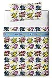 Super Wings Juego Sábanas para Cama, Algodón-Poliéster, Multicolor, Individual, 200x90x25 cm, 3 Unidades