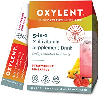 Oxylent 5-in-1 Multivitamin Supplement Drink - Sugar-Free & Effervescent for Easy Absorption of Vitamins, Minerals, Electr...