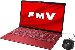 富士通 FMV LIFEBOOK AH43/E1(ガーネットレッド)- 15.6型ノートパソコン[AMD Ryzen 3 / メモリ 8GB / SSD 256GB / DVDドライブ]Microsoft Office Home & Busin...