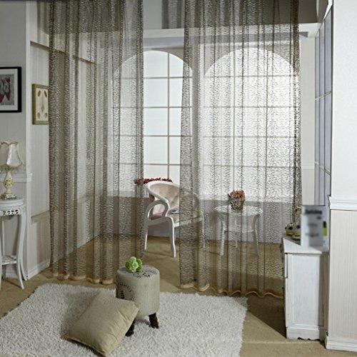 Rideaux Met Love Écrans en Tricot chaîne Chaîne Salon en Tissu Haut de Gamme Semi-Transparent Fenêtre Creuse Balcon Fenêtre Mince 2 Panneaux (Taille : L:1.5*H:2.7m)