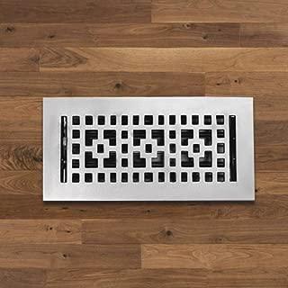 Checkered Solid Brass Floor Register - Chrome