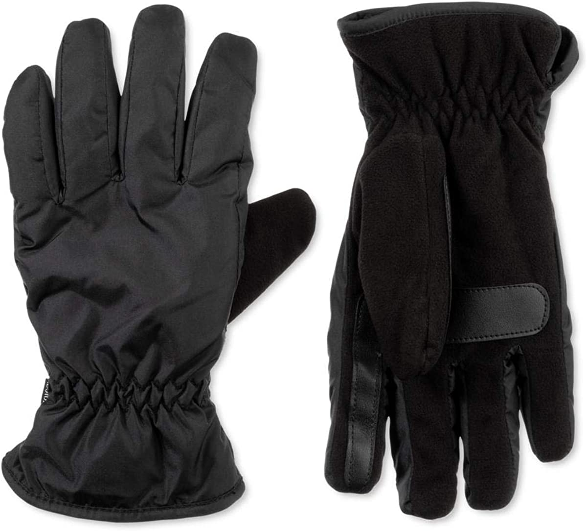 Outstanding Isotoner Mens Cold Weather Touch Black XL All items in the store Gloves Screen Winter