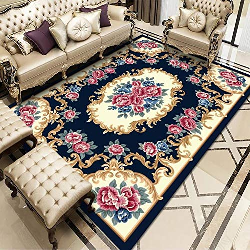 Oukeep European Style Living Room Carpet, Non-Slip Home Sofa, Coffee Table Mat, Bedroom, Large Area Printed Floor Mat, Bedside Blanket