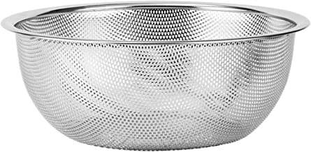304 Stainless Steel Drain Basin, Round Basin, Kitchen Filter Basin, Household Drain, Rice Wash Basin, Drain Basket, Multif...