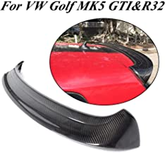 JC SPORTLINE Compatible with Volkswagen VW Golf Carbon Fiber Rear Roof Spoiler CF Window Top Wing (Golf 5 MK5, GTI & R)