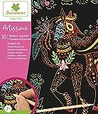 SYCOMORE-CREA014 Artissimo-10 Tableaux à gratter-Chevaux et Licornes-Scratch Art-Loisirs Créatifs Enfant-Dès 7 ans-Sycomore-CREA014, CREA014, Plusieurs Couleurs