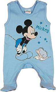 Kleines Kleid Disney Mickey Mouse Baby Strampler Jungen Aermellos 50 56 62 68 Frühchen Neugeboren Anzug Body Einteiler Overall aus Europa 100% Baumwolle mit Patentknöpe für 0 3 6 9 Monate Farbe Blau