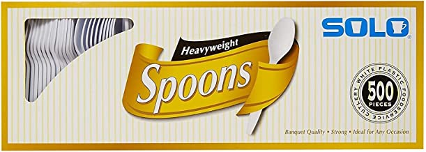 product image for SOLO Cup Company White Heavyweight Spoons - 500 ct