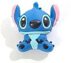 High Quality 8 GB Stitch style USB flash drive - Blue