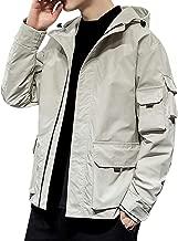 Bomber Jacket Men's Autumn Casual Fashion Pure Color Hoodie Zipper Backwoods Hoodie Plus Size Jacket Coat