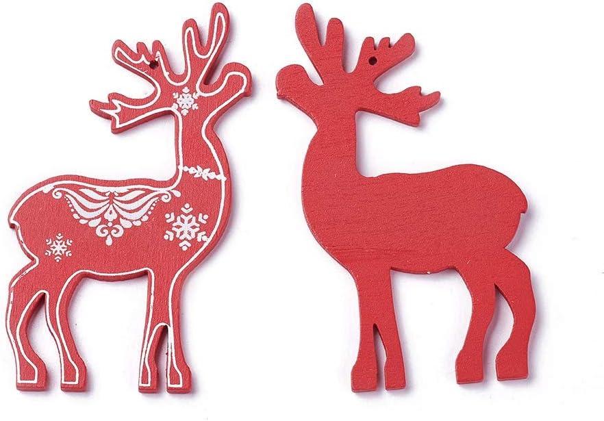 Mega Pet 100pcs Popular Christmas Wooden Pendant Tags Hangings Ornaments Regular discount