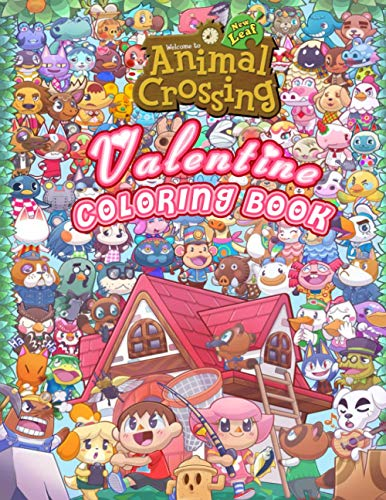 Animal Crossing Coloring Book: Animal Crossing Perfect Gift - An Coloring Book Designed To Relax And Calm with 50+ Coloring Pages