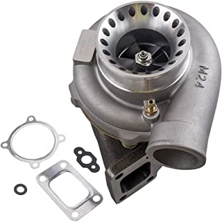 maXpeedingrods GT35 GT3582 GT3582R Turbo T3 Flange AR.70/63 Anti-Surge Compressor Turbocharger 600HP, Turbo Charger for 2.5L-6.0L Engines Water + Oil Cooled