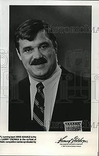 Historic Images - 1990 Vintage Press Photo Larry Csonka co-hosts the American Gladiators. - nop00881