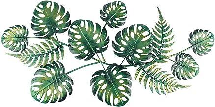 Liffy Metal Leaf Wall Art Plant Decor Sculpture Hang Decor for Outdoor Indoor wall, Patio, Porch or Door