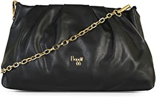 Baggit Spring-Summer 2021 Faux Leather Women's Clutch Handbag (Black) (Marazzo)