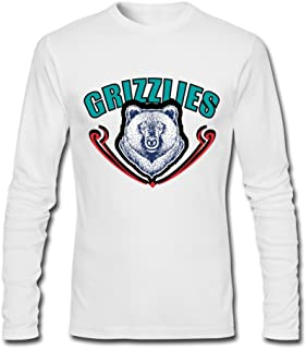 Owner Logo History Memphis Grizzlies [White Men's Tshirts Long-Sleeve