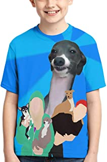 Jen-na-Marbles-Dogs Tops Fashion Children's T-Shirt Graphic Short Sleeve Shirt Tees Boys Girls
