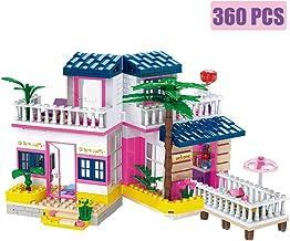 BRICK STORY Girls Building Sets Friends House Seaside Villa Building Blocks Beach Hut Building Kit for Kids Aged 6 and up (360 PCS)