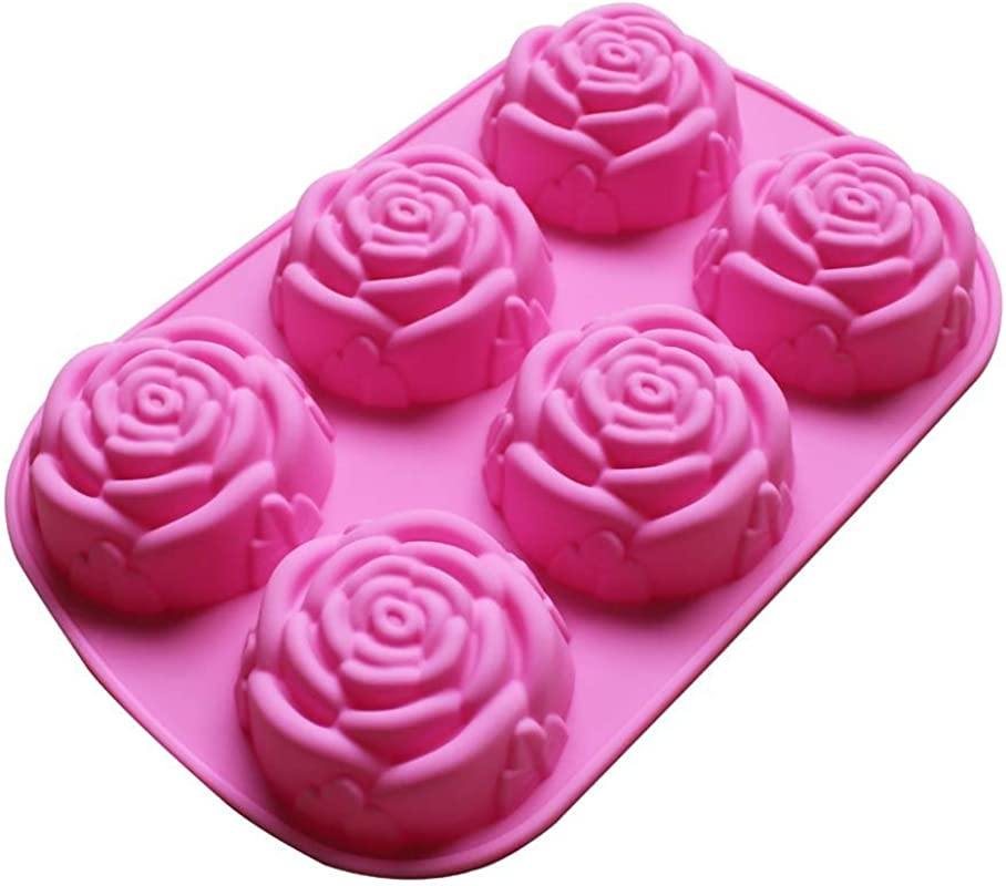 Large Rose Flower Ice Cube Chocolate Soap Tray Mold Silicone Party Maker Ships From USA