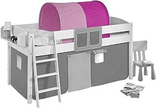 Lilokids Tunnel pink highsleeper  midsleeper bunk bed