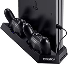 PS4 Universal Controller Charger KINGTOP PS4/PS4 Pro/PS4 Slim Fan Cooler Vertical Stand..